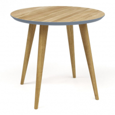 Стол обеденный RONDA ROUND эмаль+шпон